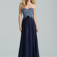 Strapless Beaded Grecian Dress from Camille La Vie and Group USA