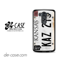 Personalized Vintage Supernatural License Plate Number For LG G3 Case Phone Case Gift Present YO