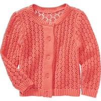 Pointelle-Knit Cardigans for Baby