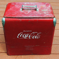Vintage Red Coca Cola Cooler 1950s by SarahAnntiques on Etsy