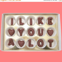 I Like You A Lot Large Milk Chocolate Letters Flirting Creative LOL Anniversary Valentines Gift for Men Women Her Him Bf Gf Made to Order