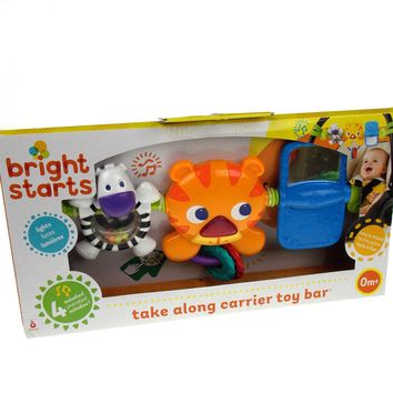 Bright Start Take Along Carrier Toy Bar Baby 4 Melodies Lights Kids II Sounds