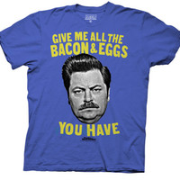 Parks and Recreation - Bacon & Eggs (Slim Fit) T-shirts at AllPosters.com