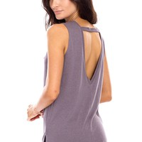 Oversized Open Back Top