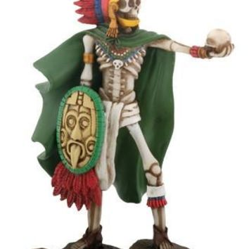 Aztec Warrior Day of the Dead Statue 7H