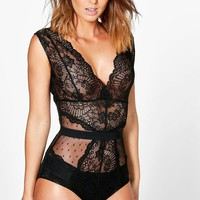 Sally Boutique Lace Bodysuit | Boohoo