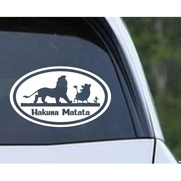 Hakuna Matata Lion King Euro Oval Die Cut Vinyl Decal Sticker
