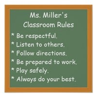 Customizable Classroom Rules Poster