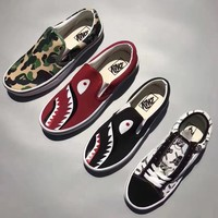 Charmvip | Vans Slip-On Old Skool Canvas Casual Shoes Sneaker