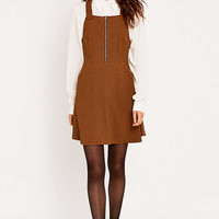 Urban Outfitters Zip Front Pinny Dress - Urban Outfitters