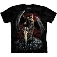 DEATH WISH The Mountain Grim Reaper Angel Skull Sword Metal T-Shirt S-3XL NEW