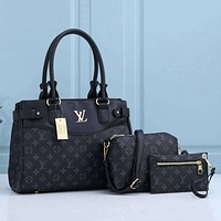 Louis Vuitton LV presbyopia plaid three-piece fashion all-match handbag