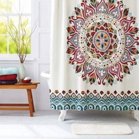 Better Homes and Gardens Medallion Fabric Shower Curtain - Walmart.com