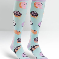 Sock It To Me Dough Eyed Donut Knee High Socks