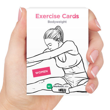 Exercise Cards Bodyweight for Women