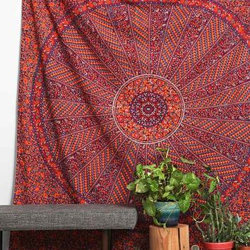 Magical Thinking Floral Ring Tapestry- Purple One