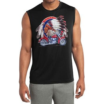 Indian Motorcycle T-shirt Big Chief Sleeveless Competitor Tee