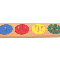 Cut-Out Wooden Fraction Circles