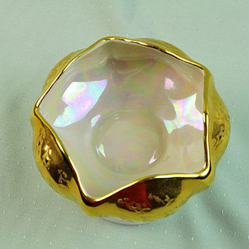 Holley Ross Distinguished China, Dish, 22K Gold, Lusterware