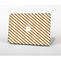 """The Brown & White Striped Pattern Skin Set for the Apple MacBook Air 13"""""""