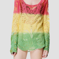 Marly Lace Cover Up Top