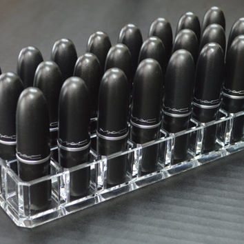 Acrylic Lipstick Organizer with 24 spaces byAlegory CLEAR TRANSPARENT byAlegory .com