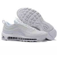 NIKE AIR MAX 97 Fashion Running Sneakers Sport Shoes white H Z