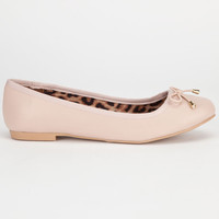 Qupid Palmer Womens Flats Nude  In Sizes