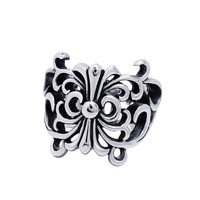 Gift Jewelry New Arrival Shiny Vintage Stylish Accessory Butterfly Titanium Ring [6542631491]