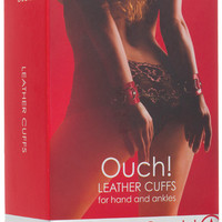 Shots Ouch Leather Cuffs - Red