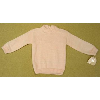 Mudder's Work Girls Pink Knitted Sweater 9-12m Infant -- New