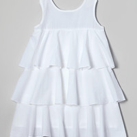 White Tiered Kate Dress - Infant, Toddler & Girls   zulily