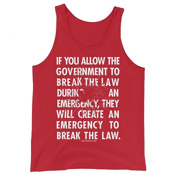 Government Emergency Unisex Tank Top