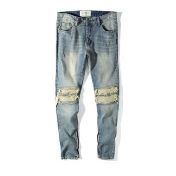 Ripped Holes Pants Slim Jeans [3444986675293]