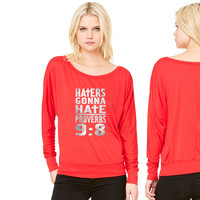 Haters Gonna Hate (2) women's long sleeve tee