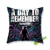 A Day To Remember Homesick Rock Band Square Pillow Cover
