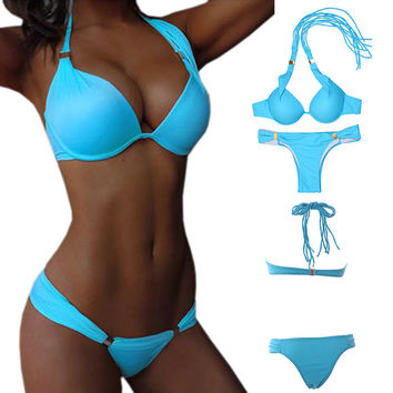 Push Up Bikini Bathing Suits Swimsuit Women Swimwear