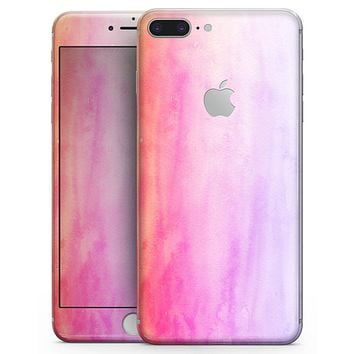 Pink 8682 Absorbed Watercolor Texture - Skin-kit for the iPhone 8 or 8 Plus