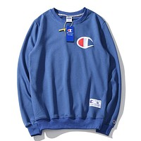 Champion fashion casual versatile embroidered crew neck sweater 2#