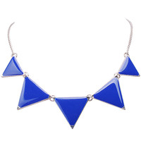 Triangle Bib Collar Necklace Charm Unique Necklace Geometric Enamel Necklace