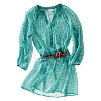 Mossimo Supply Co. Printed 3/4 Sleeve Belted Tunic - Assorted Colors