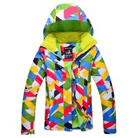 Outdoor New Waterproof Windproof Women's Ski Jacket Young Lady Winter Sports Coats For Skiing Camping Hiking Snowboard Clothes