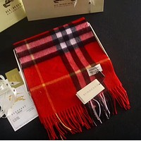 BURBERRY Classic Trending Women Men Stylish Cashmere Cape Scarf Scarves Shawl Accessories Red