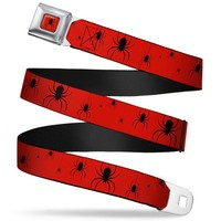 Spider-Man Logo Red Belt
