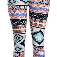High Quality Printed Leggings (Pastel Aztec)