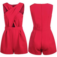 Fashion Rompers 'S V Neck Bodycon Jumpsuit