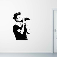 "Justin Bieber Decal - Removable Vinyl Wall Decal - 48"" x 80"""