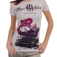 Three Days Grace - Snake Killing Bird Womens T-Shirt In Charcoal