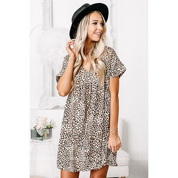 Dressed To Impress Cheetah Print Babydoll Dress