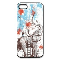 Generic Elephant Design Hard Case Cover for iPhone 5 - Non-Retail Packaging - Multi